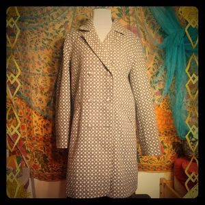 Diamond + Square Print Peacoat Jacket XL